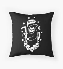Cat Searching For Souls Floor Pillow