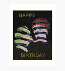 Lesvos By Night Happy Birthday Art Print