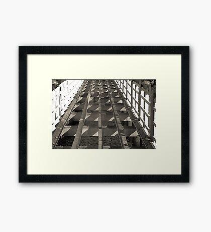 Building Bridges Framed Print
