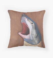 Shark in a Sweater Throw Pillow