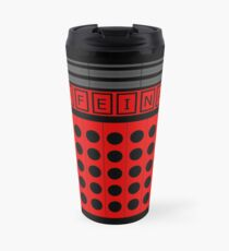 Not a robot. Red. Inspired by Daleks. Travel Mug