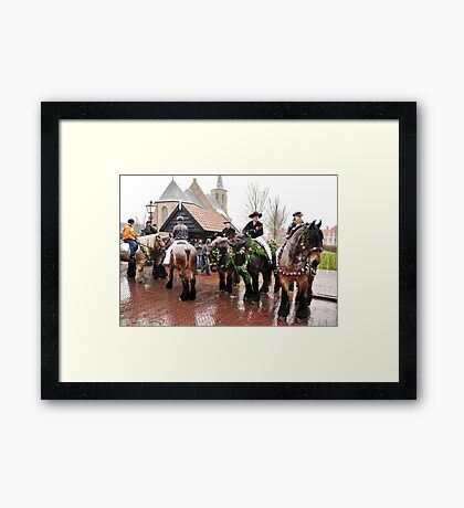 A rainy Straô Framed Print