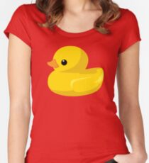Ducks in a Row Women's Fitted Scoop T-Shirt