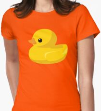 Ducks in a Row Womens Fitted T-Shirt