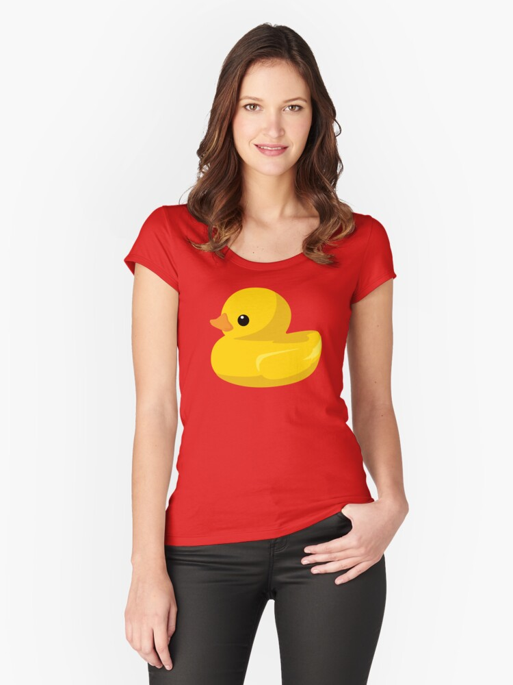 Ducks in a Row Women's Fitted Scoop T-Shirt Front