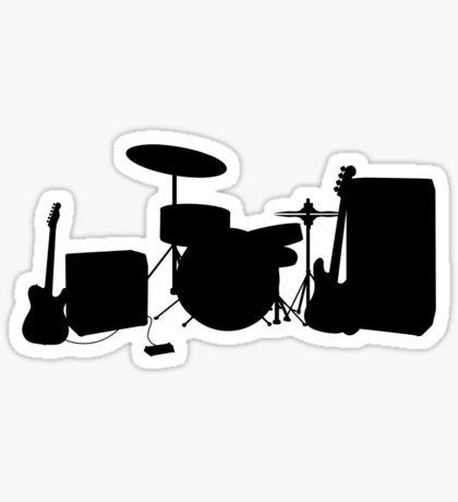Rock Band Sticker