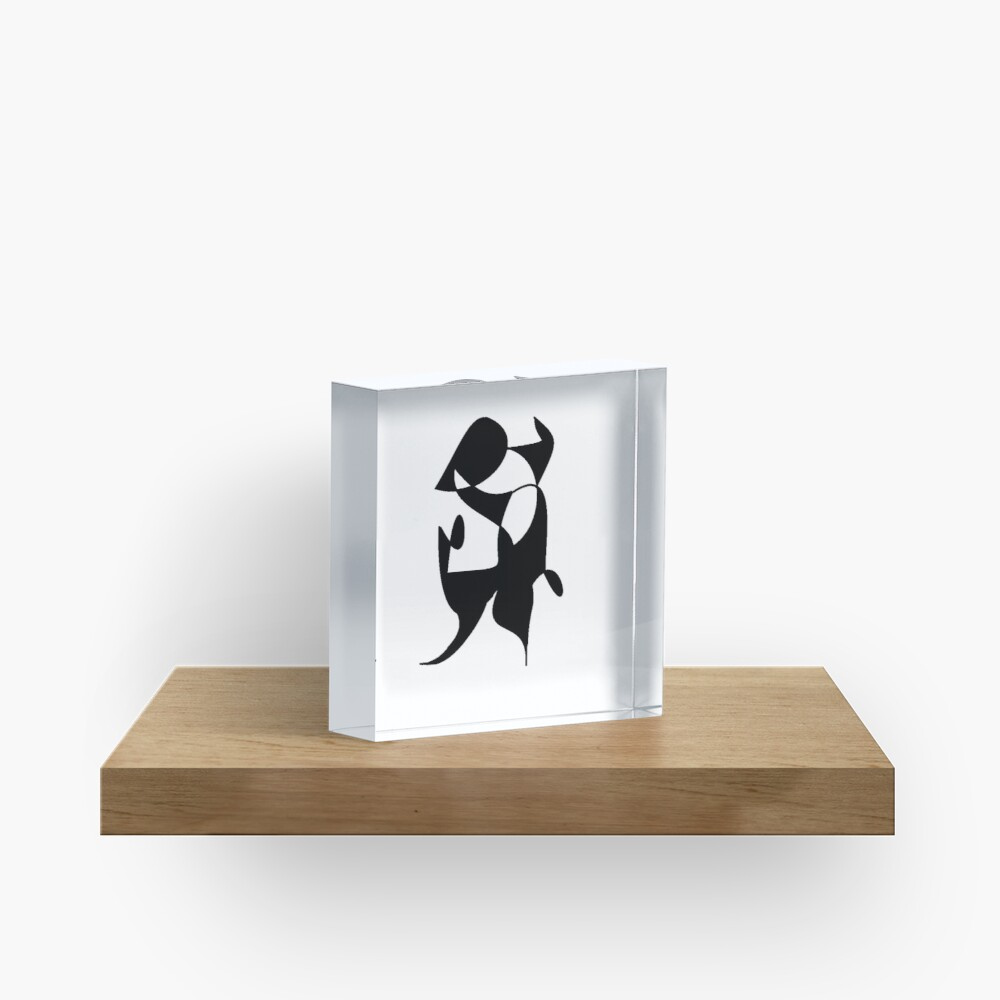 A Bull, Abstract (Designed by Just Stories) Acrylic Block