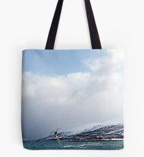 Kiting by the arctic shore Tote Bag