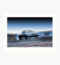 4dr R32 Skyline Drifting Art Print