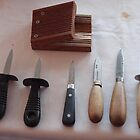Oyster opening knives  by Tom McDonnell