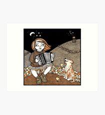 Annie's Accordian Art Print