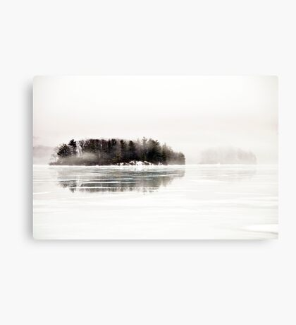 And Everything Emptying into White Canvas Print