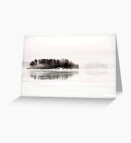 And Everything Emptying into White Greeting Card