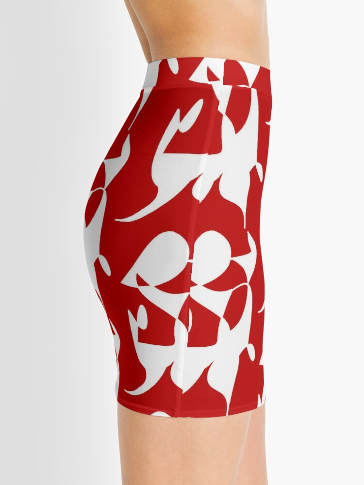 Alternate view of A Bull, Abstract (Designed by Just Stories) Mini Skirt