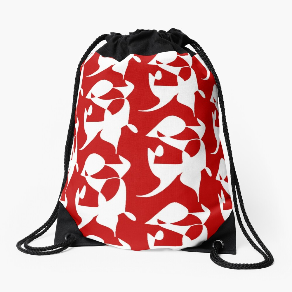 A Bull, Abstract (Designed by Just Stories) Drawstring Bag