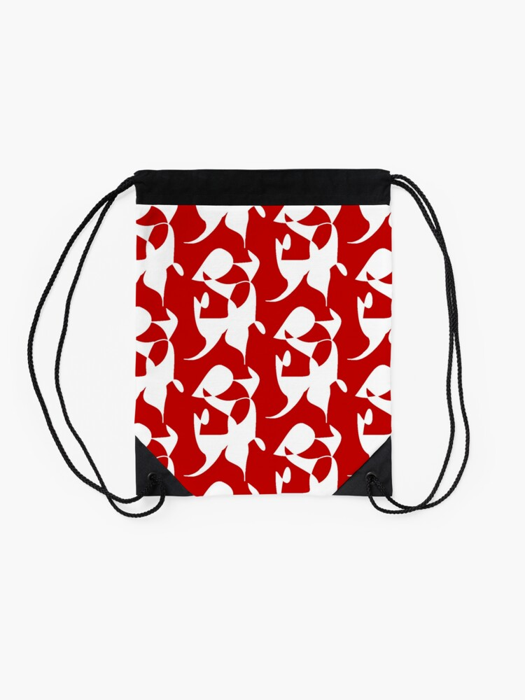 Alternate view of A Bull, Abstract (Designed by Just Stories) Drawstring Bag