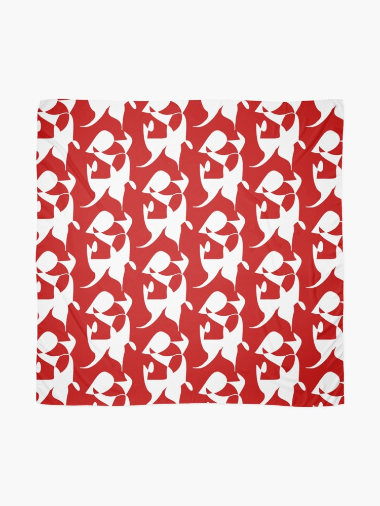 Alternate view of A Bull, Abstract (Designed by Just Stories) Scarf