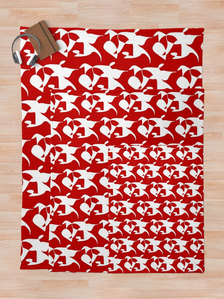 Alternate view of A Bull, Abstract (Designed by Just Stories) Throw Blanket