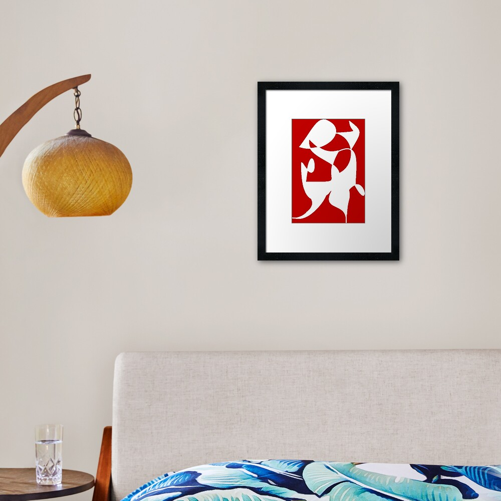 A Bull, Abstract (Designed by Just Stories) Framed Art Print