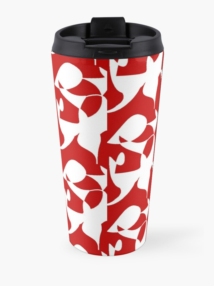 Alternate view of A Bull, Abstract (Designed by Just Stories) Travel Mug