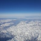 Photograph of the Southern Alps mountain range in New Zealand's South Island by SJMcDermott
