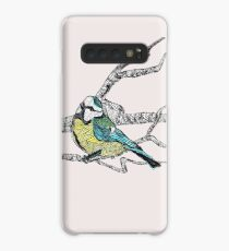 Blue tit on a branch - faith and truth Case/Skin for Samsung Galaxy