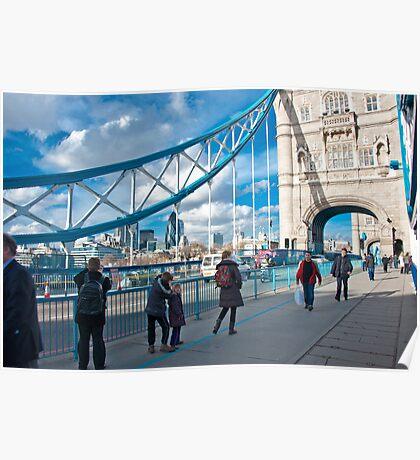 Across Tower Bridge: London, England. Poster