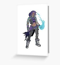 Amara The Siren Borderlands 3 The Tiger of Partali Greeting Card