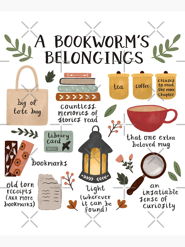 A Bookworm's Belongings by ohjessmarie