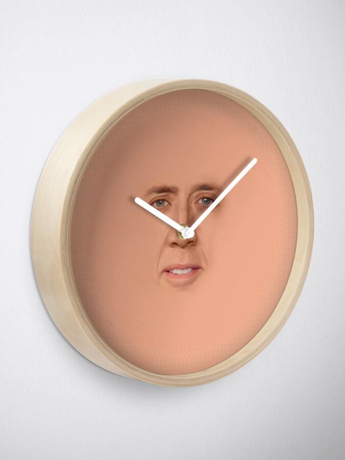 Alternate view of nicolas cage - Face Clock