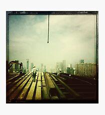 Buidling a skyscraper, Hong Kong Photographic Print