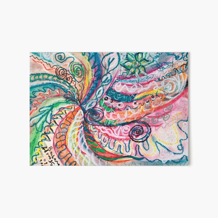 abstract concentric nature creation Art Board Print