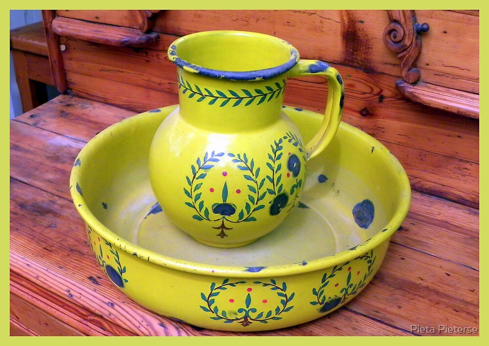Old Wash basin/tub and Toilet jug by Pieta Pieterse