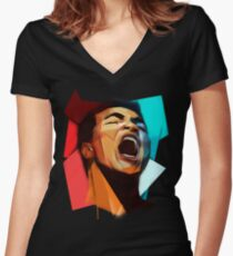 Cassius Women's Fitted V-Neck T-Shirt