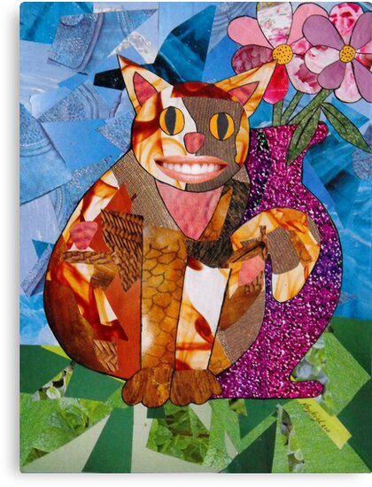 Happy Cat with Vase by Kayleigh Walmsley