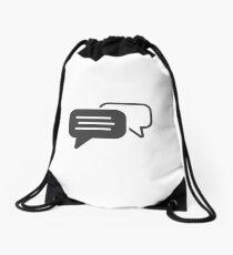 Messaging symbol Drawstring Bag
