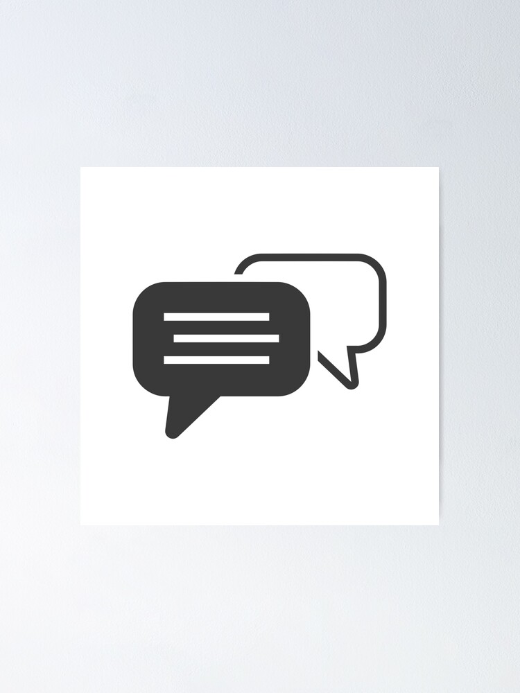 Alternate view of Messaging symbol Poster