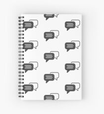 Messaging symbol Spiral Notebook