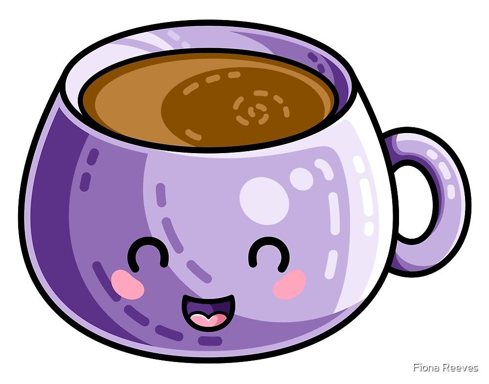 Kawaii Cute Coffee by Fiona Reeves