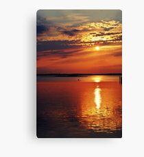 Sunset over Bahia Marina Ocean City, Maryland Canvas Print