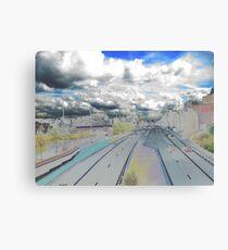 Urban scape - Amsterdam Holland Canvas Print