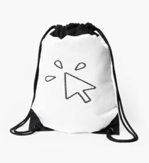 Computer Mouse Click Drawstring Bag