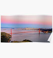 Golden Gate Bridge From Marin Headlands Poster