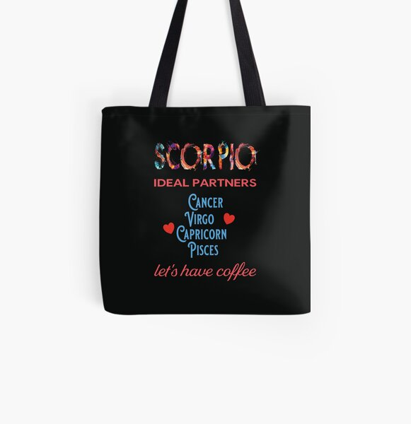 Scorpio Ideal Partners All Over Print Tote Bag