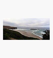 Bird Rock & beach, Dunedin, NZ Photographic Print