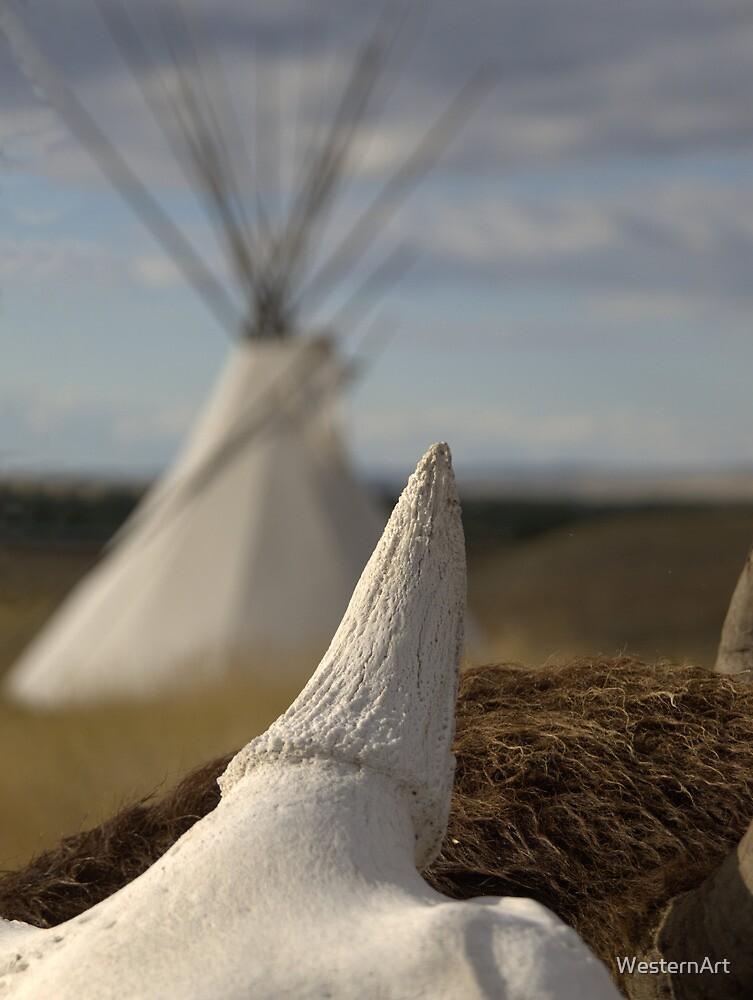 Buffalo and Ti Pi by WesternArt