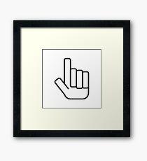 Foam Finger Framed Print