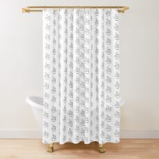 Foam Finger Shower Curtain