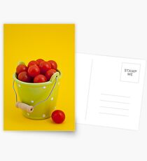 Bucket of cherry tomatoes Postcards