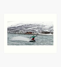 Kiting in the arctic  Art Print